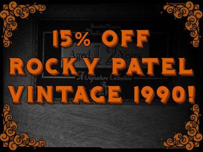 15% Off Rocky Patel Vintage 1990